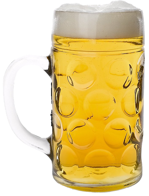 In brief beer glass logo