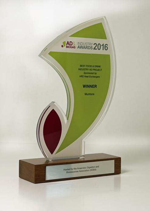 Muntons AD award trophy