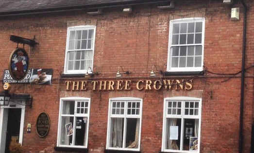 Stuart Broad's first pub, the Three Crowns